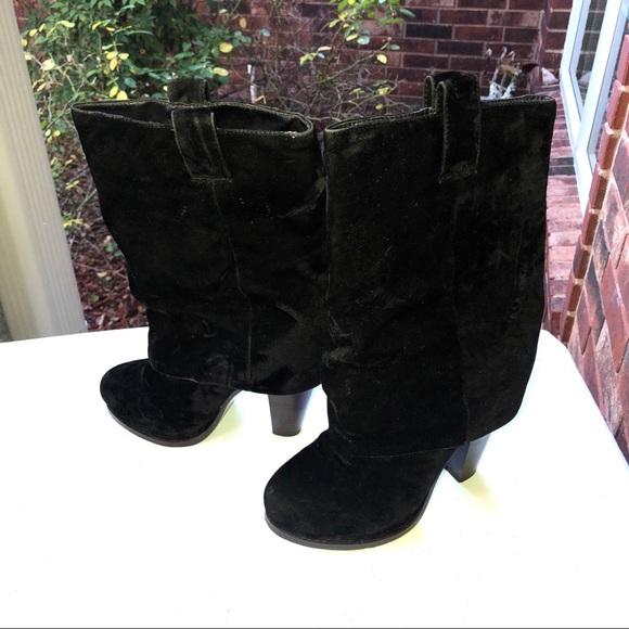 5a497791f1e Wet Seal Black Sleeve Velour Type Short Boots Wm 7